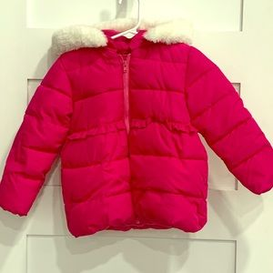 Bright pink puffer